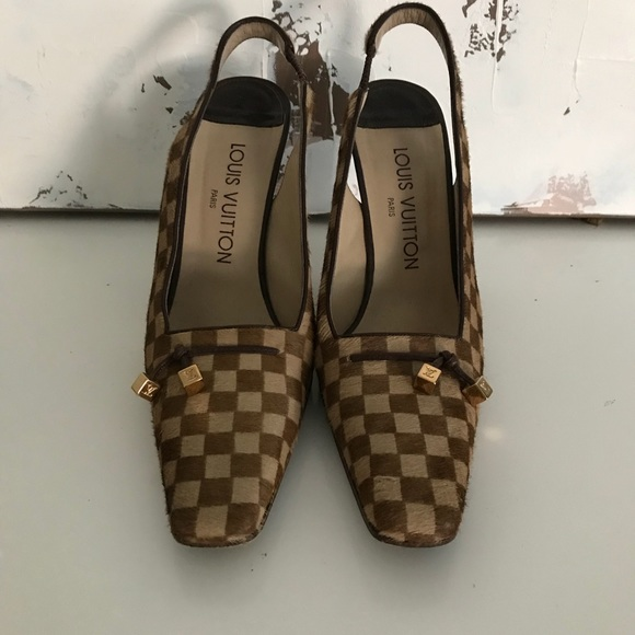 2b5dc1ae9213 Louis Vuitton Shoes - Vintage Louis Vuitton Slingback Heels